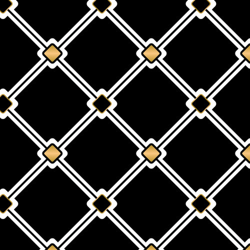 100% Cotton Fabric For Quilting And Crafting By Emma And Mila From The Eve Collection: Lattice in Black