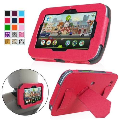"Fintie LeapFrog Epic 7"" Android-based Kids Tablet Case Standing Cover with Car Headrest Mount Holder, Magenta"