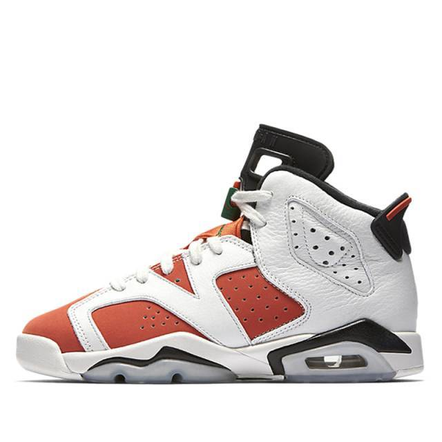 Kids Air Jordan Retro 6 VI GS Like Mike Gatorade Summit White Black Te