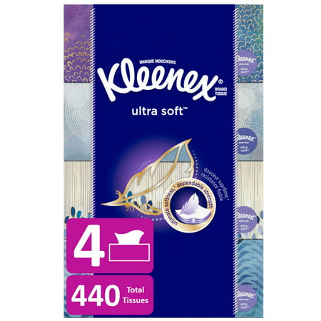 Kleenex Ultra Soft Facial Tissue - 4pk/110ct