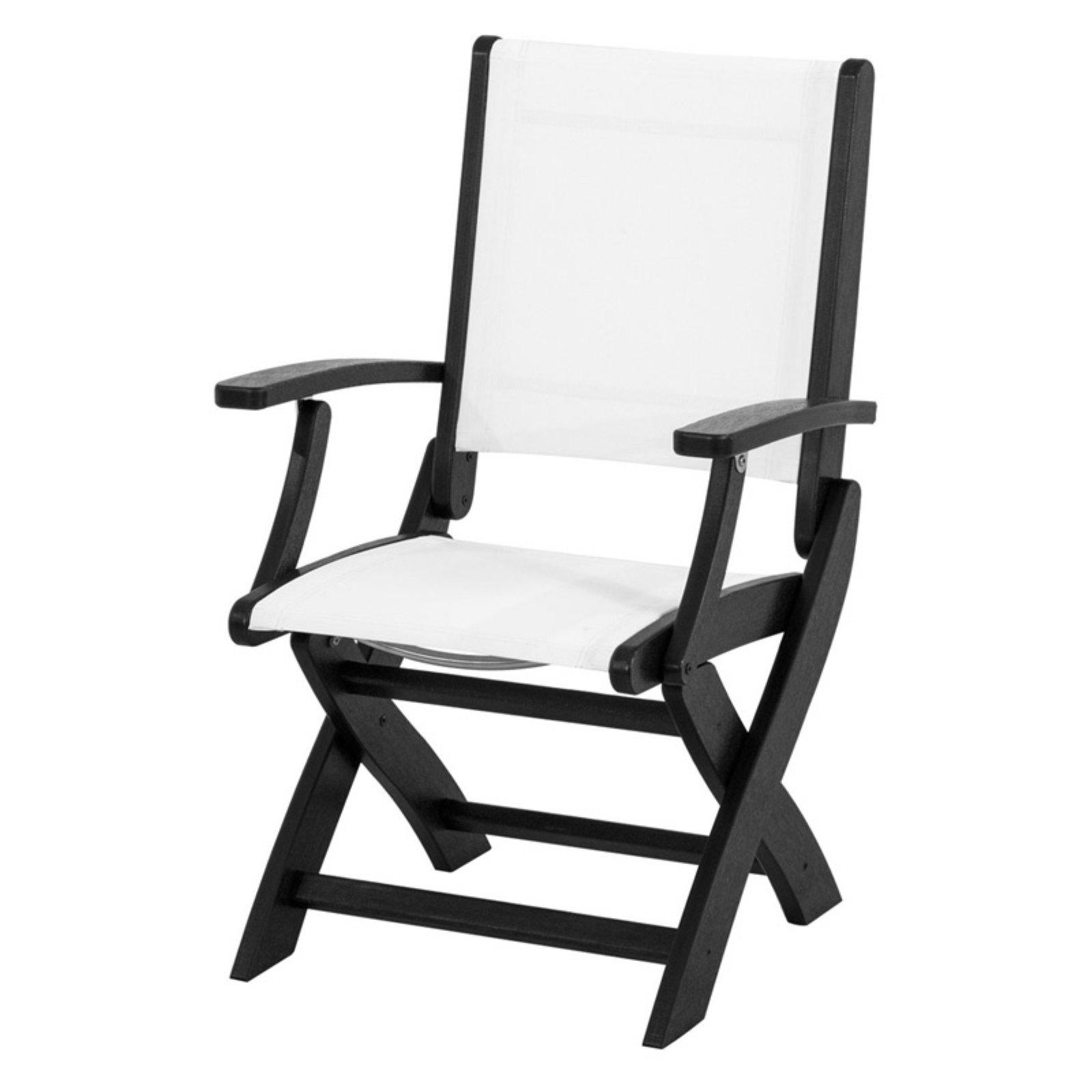 POLYWOOD; Coastal Sling Folding Chair