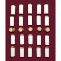 12 mm Billiard Pool Cue Slip Push on Tips Lot of 25