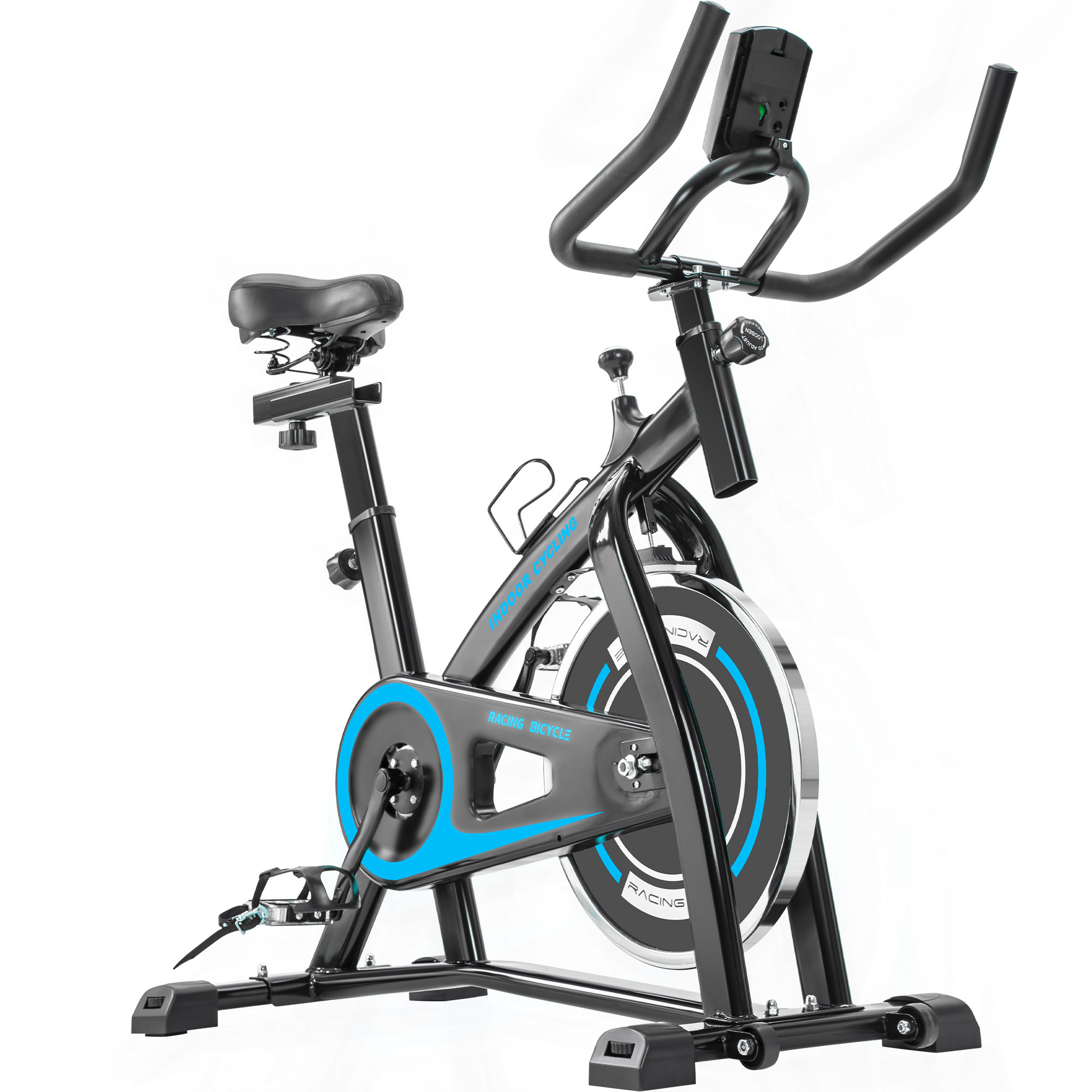 EUROCO Indoor Cycling/Exercise Bike Trainer with Comfortable Seat Cushion