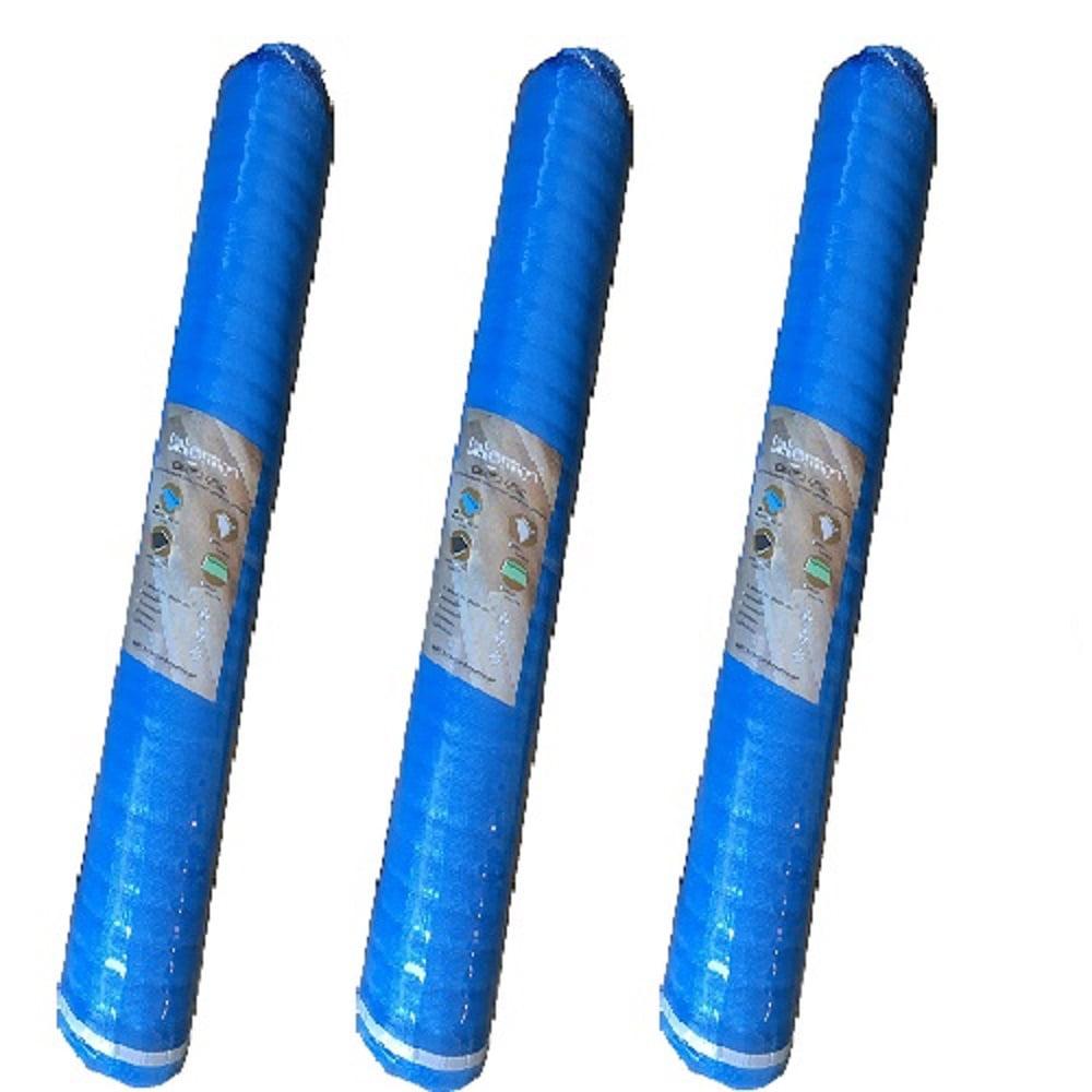 Dekorman 2mm Thickness Blue Foam Underlayment/Pad for floated flooring, 100 sq. ft / roll, 3 rolls per bundle (Total 300 sq. ft. / bundle)