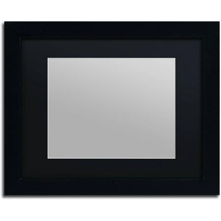 trademark fine art heavy duty 11x14 black picture frame with 8x10 black mat. Black Bedroom Furniture Sets. Home Design Ideas