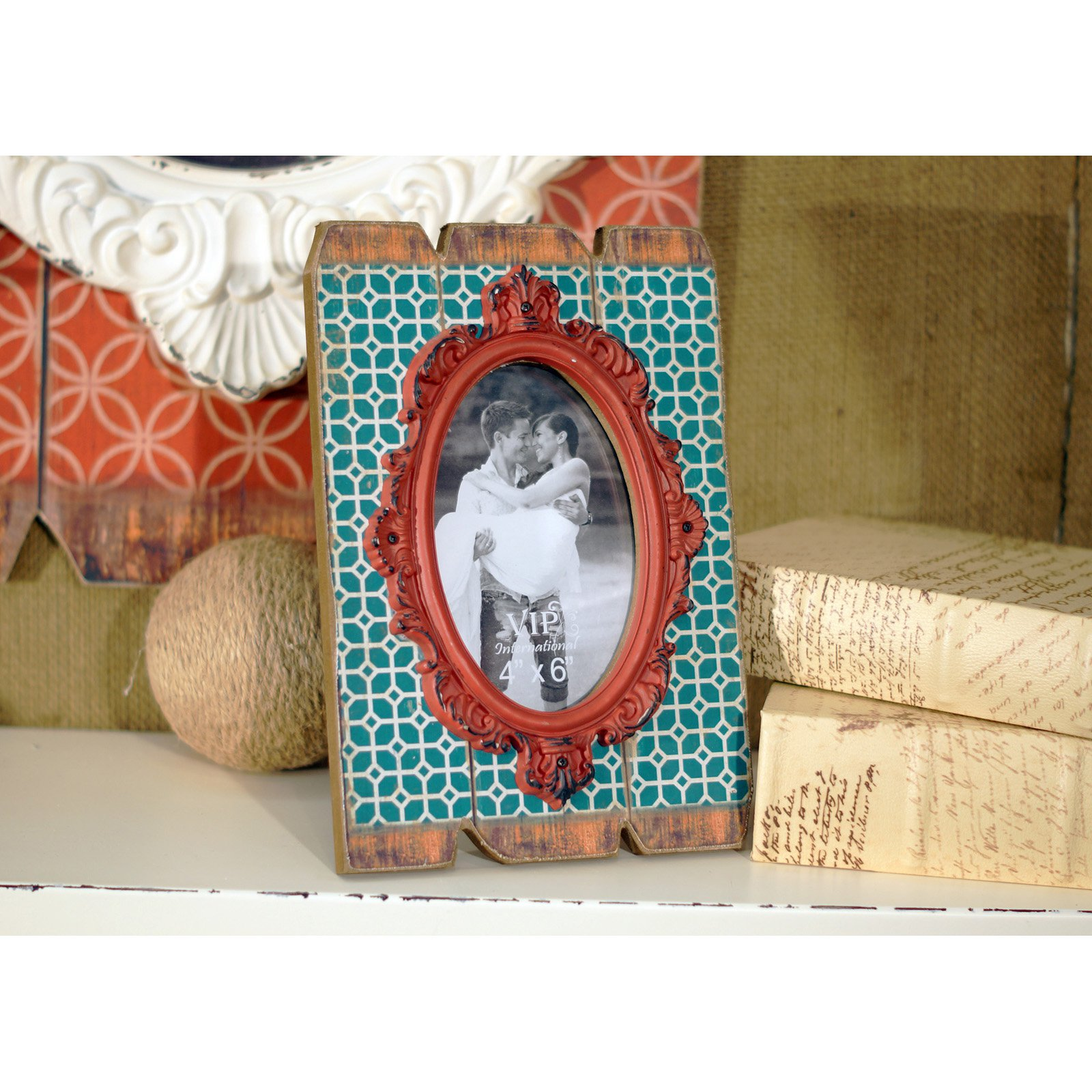 VIP International Wood Picture Frame with Red Molding