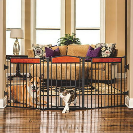 Carlson Pet Deluxe Paw Flexi Gate w/ Pet Door -  CARLSON PET PRODUCTS,INC., 1610 DS