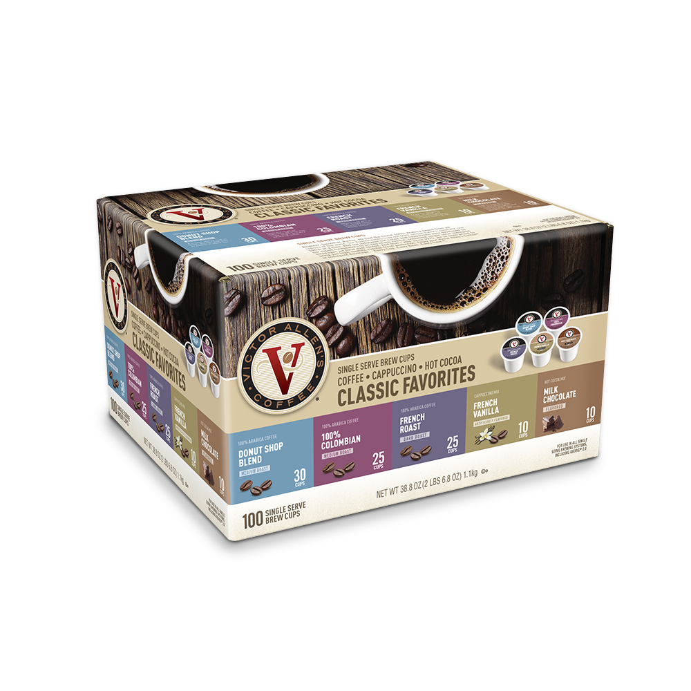 Victor Allen single serve K-cups: Variety Pack, 100 count