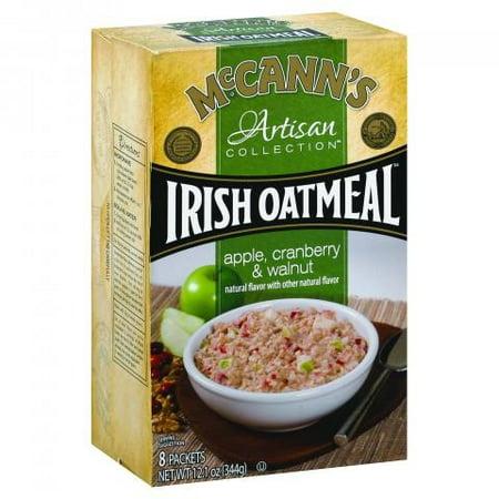 McCann's Artisan Collection Irish Oatmeal, Apple Cranberry Walnut, 1.5 Oz, 8 Ct
