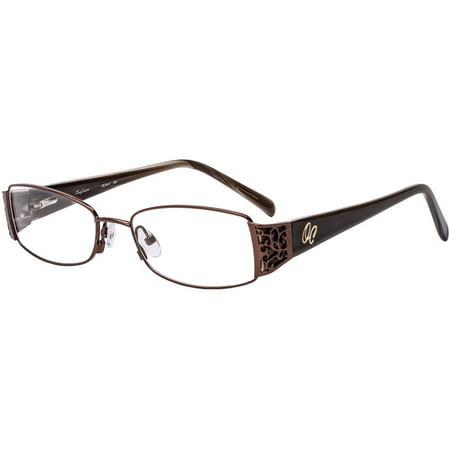 Oleg Cassini Womens Prescription Glasses, OCO411 Brown ShopFest Money Saver