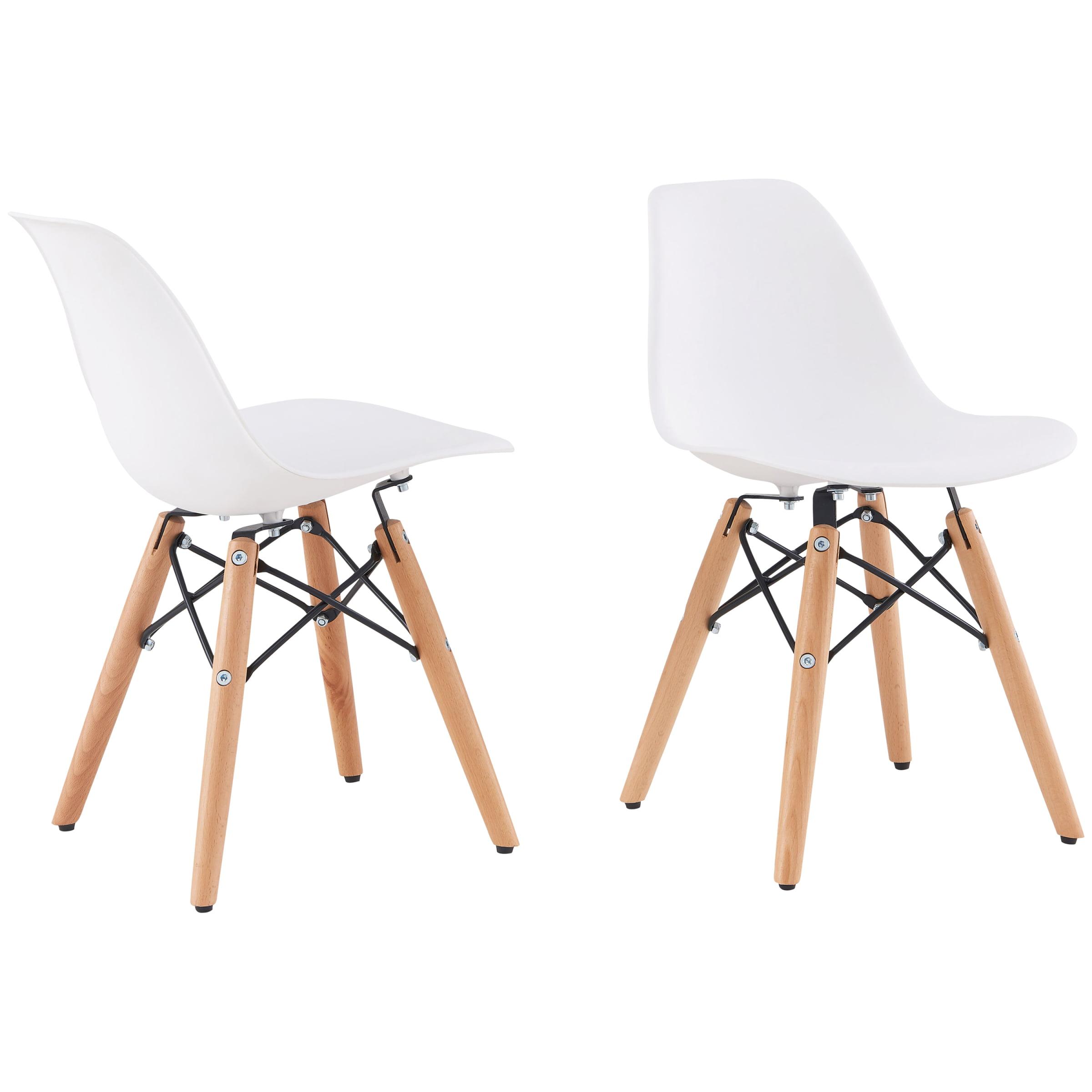 Better Homes & Gardens Luna Kids' Chairs, Set of 2, White