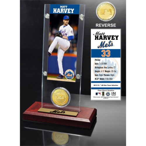 New York Mets Matt Harvey 2015 Player Ticket & Coin - No Size