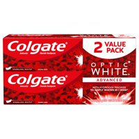 Colgate Optic White Whitening Toothpaste, Sparkling White - 5 ounce (2 pack)