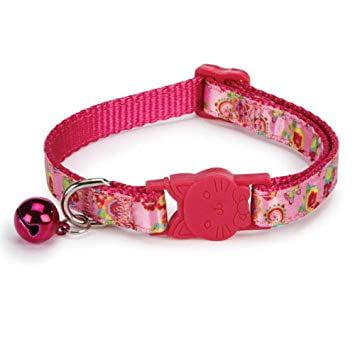 Savvy Tabby US3139 08 81 ST Spring Garden Cat Collar 8-12 In Raspberry