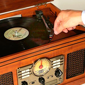 Victrola Nostalgic Bluetooth Record Player with 3-speed Turntable