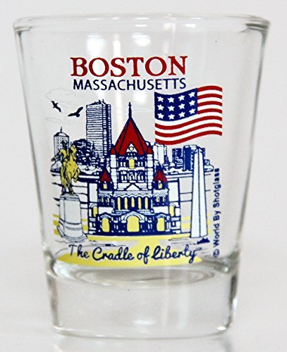 Boston Massachusetts Great American Cities Collection Shot Glass