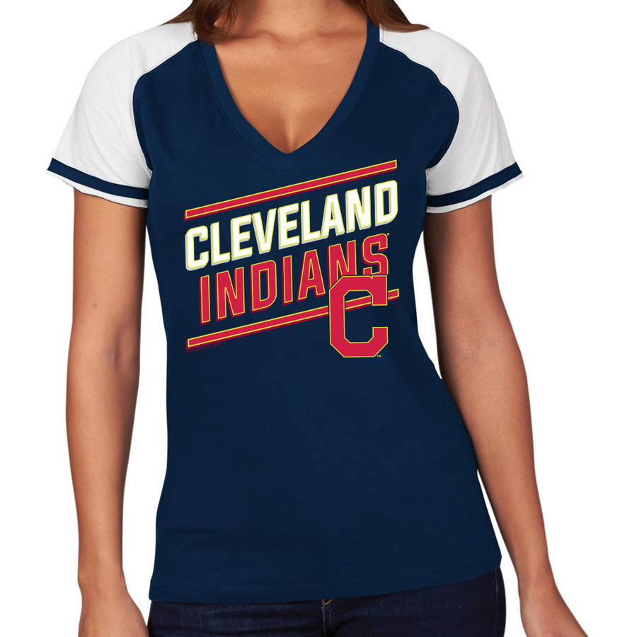 MLB Cleveland Indians Plus Size Women's Basic Tee