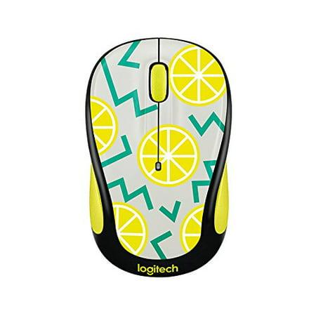 Logitech Play Collection M325c Mouse - Optical - Wireless - Radio Frequency - Lemon - Usb - 1000 Dpi - Tilt Wheel - 5 Button[s]