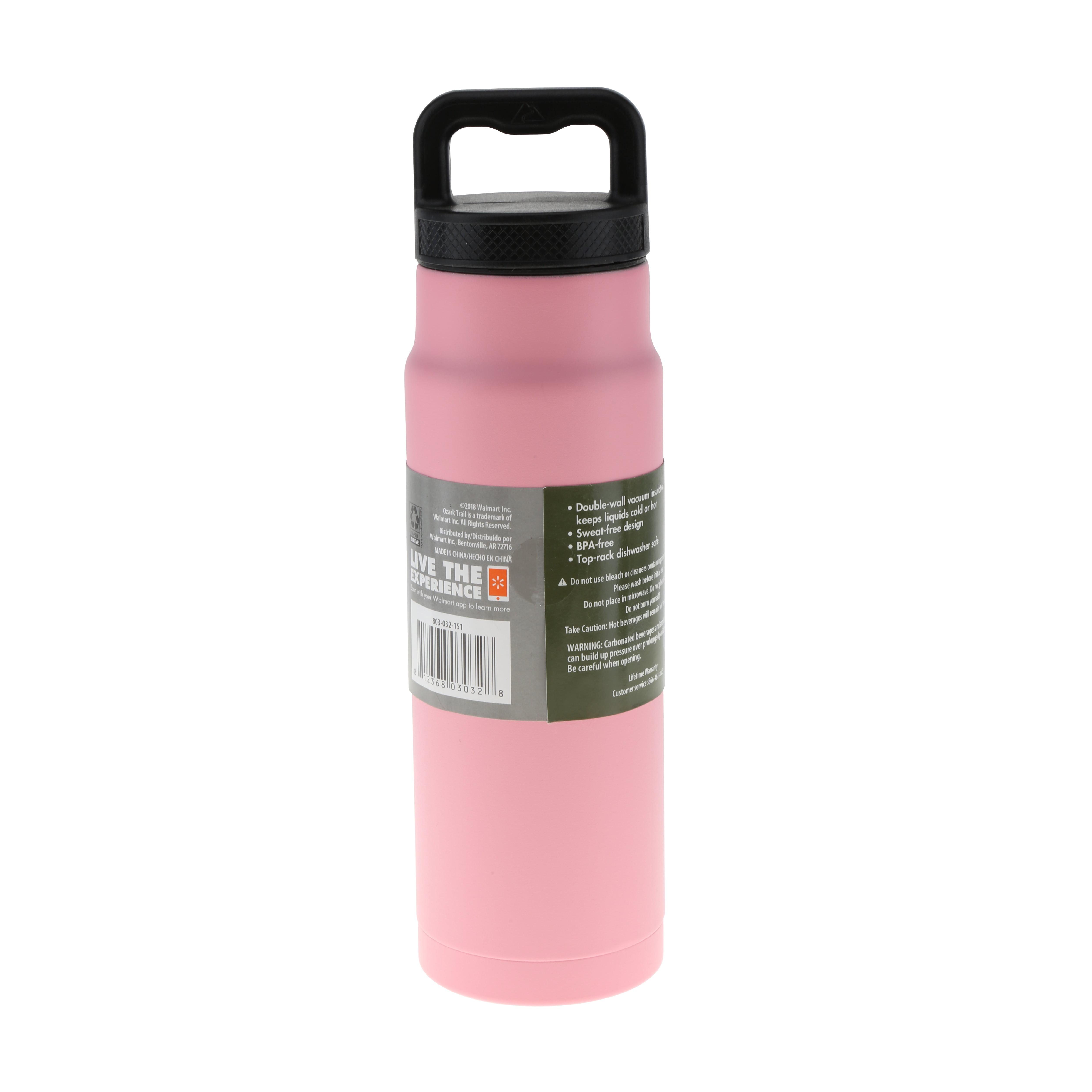 Bucknell University-24oz Stainless Steel Grip Water Bottle with Straw-Orange