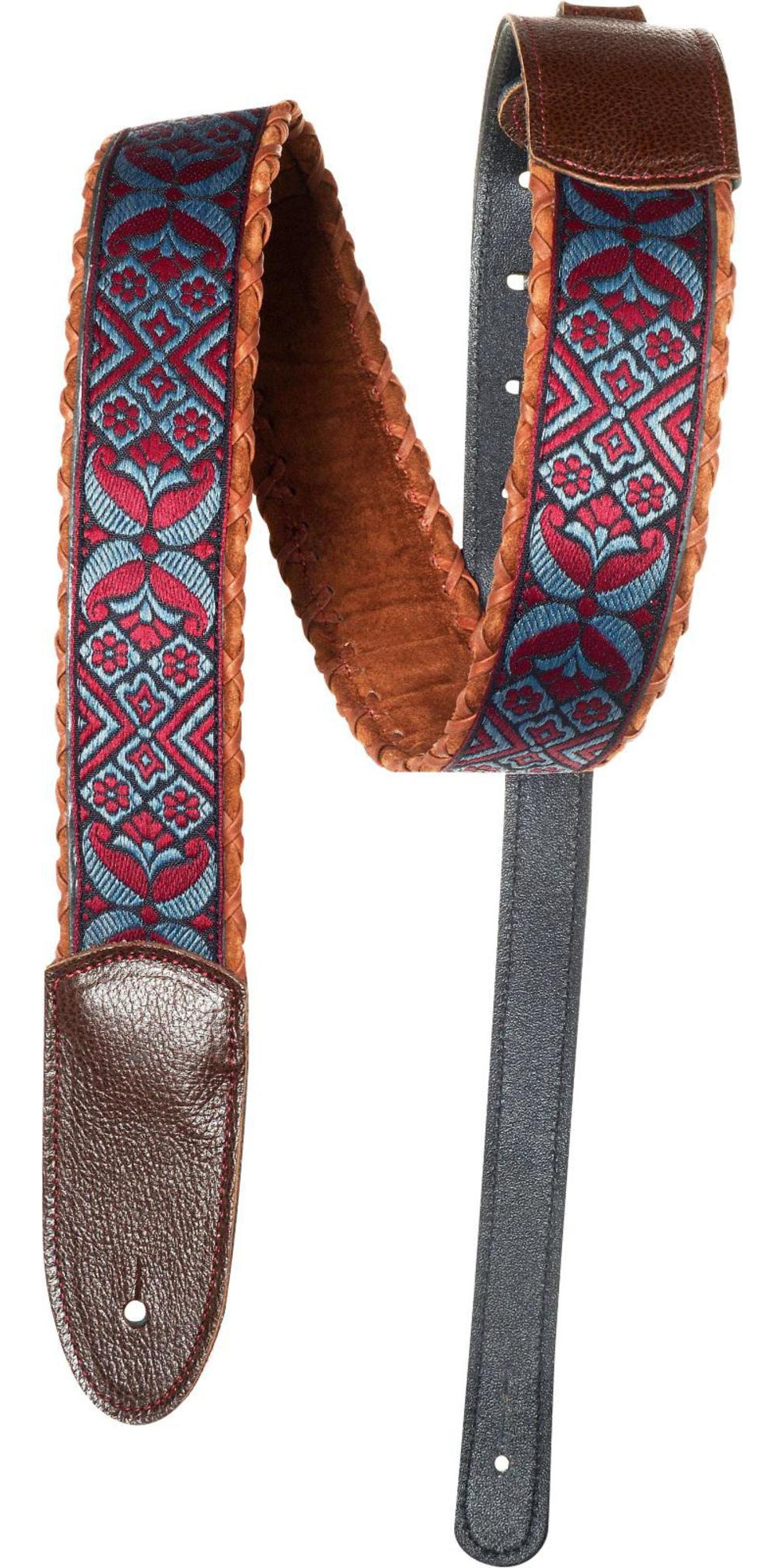 Jodi Head Monster Brown Lace Guitar Strap Brown Burgandy 2 in. by Jodi Head