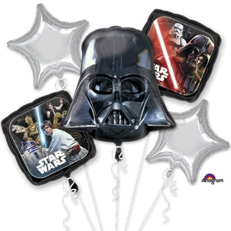 Star Wars Classic Character Authentic Licensed Theme Foil Balloon Bouquet