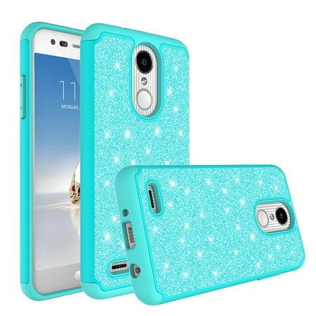 buy popular 39e30 966c7 LG Xpression Plus/Premier Pro/Phoenix Plus Case Glitter Shock Proof Phone  Case [HD Screen Protector] Hybrid Protective Cover Girls Women - Mint