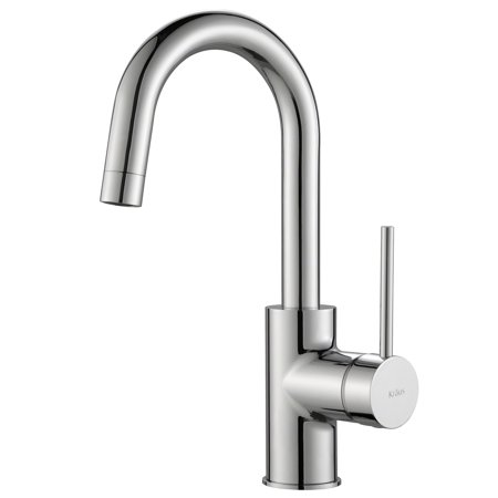 KRAUS Oletto™ Single Handle Kitchen Bar Faucet in Chrome Finish