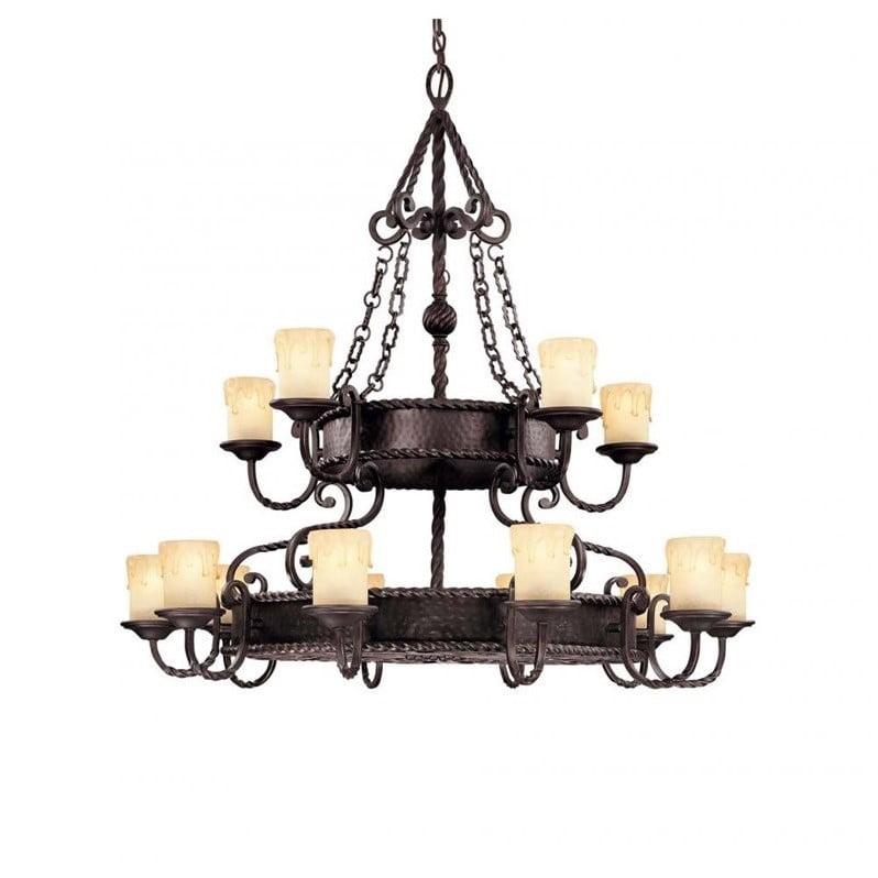 Savoy House San Gallo 15 Light Chandelier in Slate