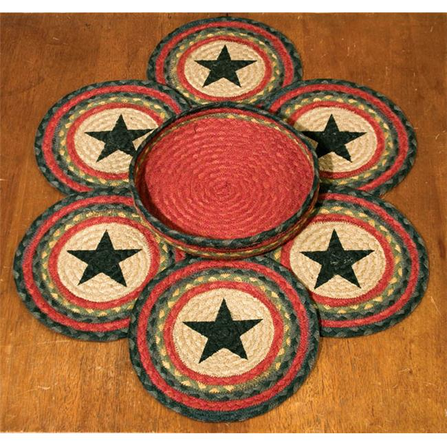 Capitol Importing 56-238S Star - Set of 7 Trivets in a Basket