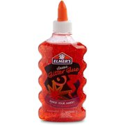 Elmer's Glitter Glue, Washable, Red, 6 oz., 1 Count
