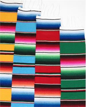 Single Mini Mexican Sarape Party Favor Serape Large Fabric