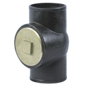 Tyler 3NHCOTEE Cleanout Pipe Tee without Plug, 3 Inch, No Hub, Cast Iron Cast Iron Cleanout Door