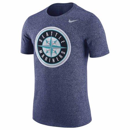 - Seattle Mariners Nike Marled T-Shirt - Heathered Navy