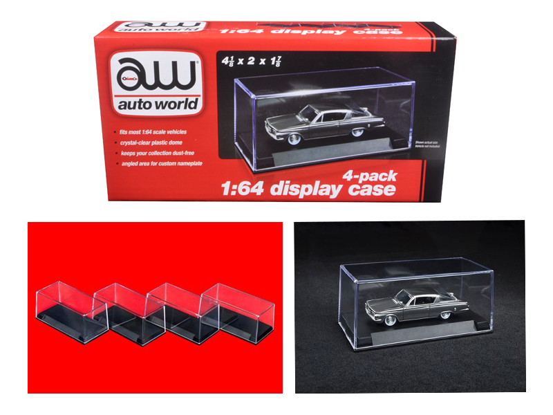Auto World Display Case 6 Pack 1//64 Scale