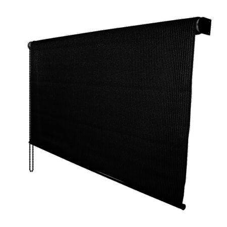 Black Roller Shade - DALIX Outdoor Roller Shade Exterior Roll-Up Sun Shade Patio Outdoor Ready Made 72 x 72
