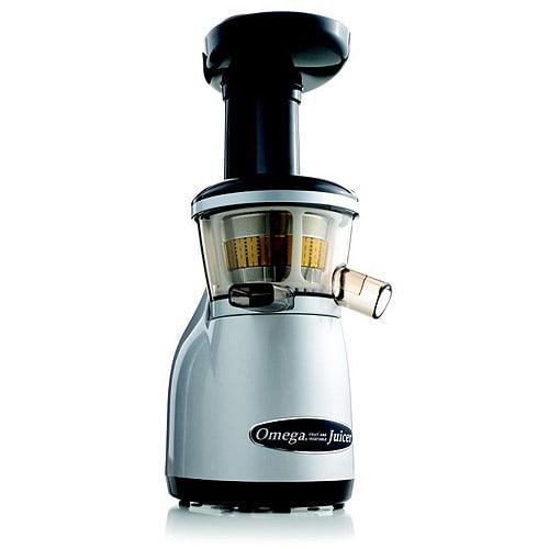 Omega Vertical Masticating Juicer, Silver