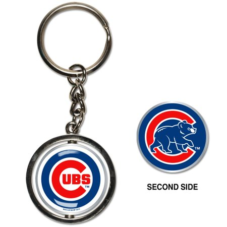 Chicago Cubs Spinner Key Ring - No Size - Chicago Keychain