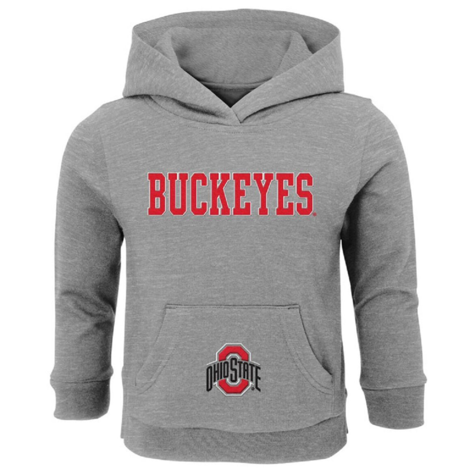 Infant Gray Ohio State Buckeyes Team Logo Pullover Hoodie