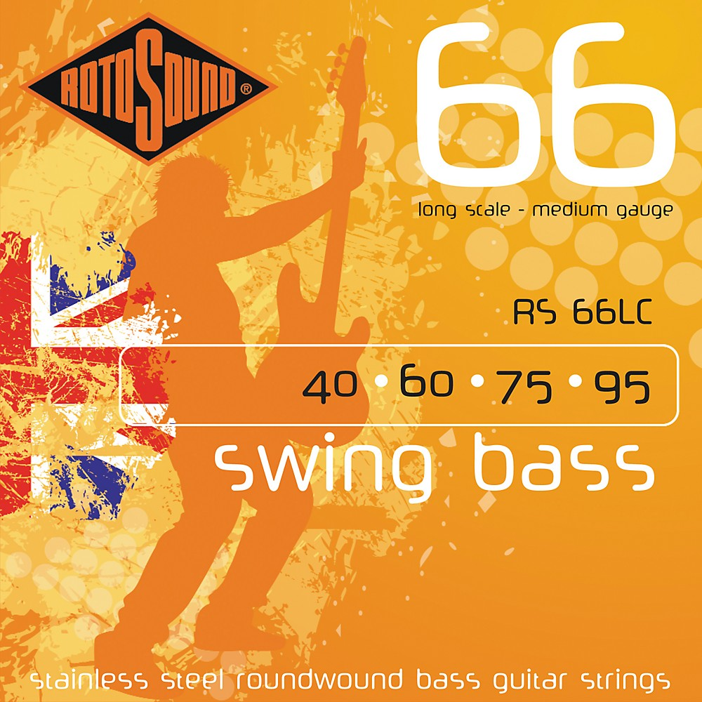 Rotosound RS66LC Long Scale Swing Bass Strings by Rotosound