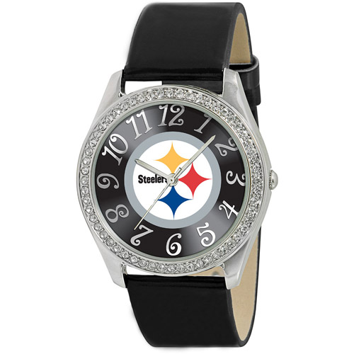 Game Time NFL Women's Pittsburgh Steelers Glitz Watch, Black