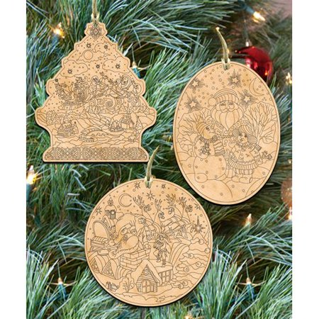 The Holiday Aisle 3 Piece Do It Yourself Christmas Ornament - Do It Yourself Christmas Decorations