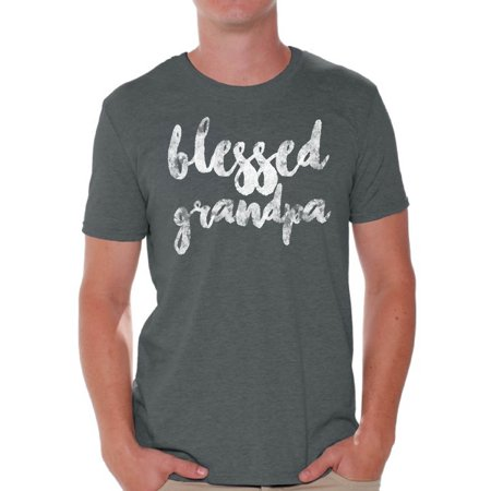 Awkward Styles Blessed Grandpa Shirt Best Father`s Day Gift Best Grandfather T Shirt Father`s Day Men Shirt Tshirt for Dad Father`s Day Gifts Ideas Cute Gifts for the Best