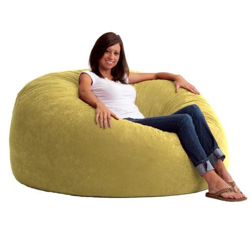 Big Joe King 5' Fuf Bean Bag Chair, Multiple Colors/Fabrics