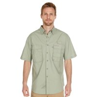 Men's Performance Fishing Shirt | Short Sleeve | Button Down | Vented | 100% Cotton