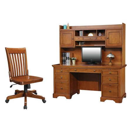 Winners Only Topaz 66 in. Flat Top Desk with Optional Hutch & Side Chair -