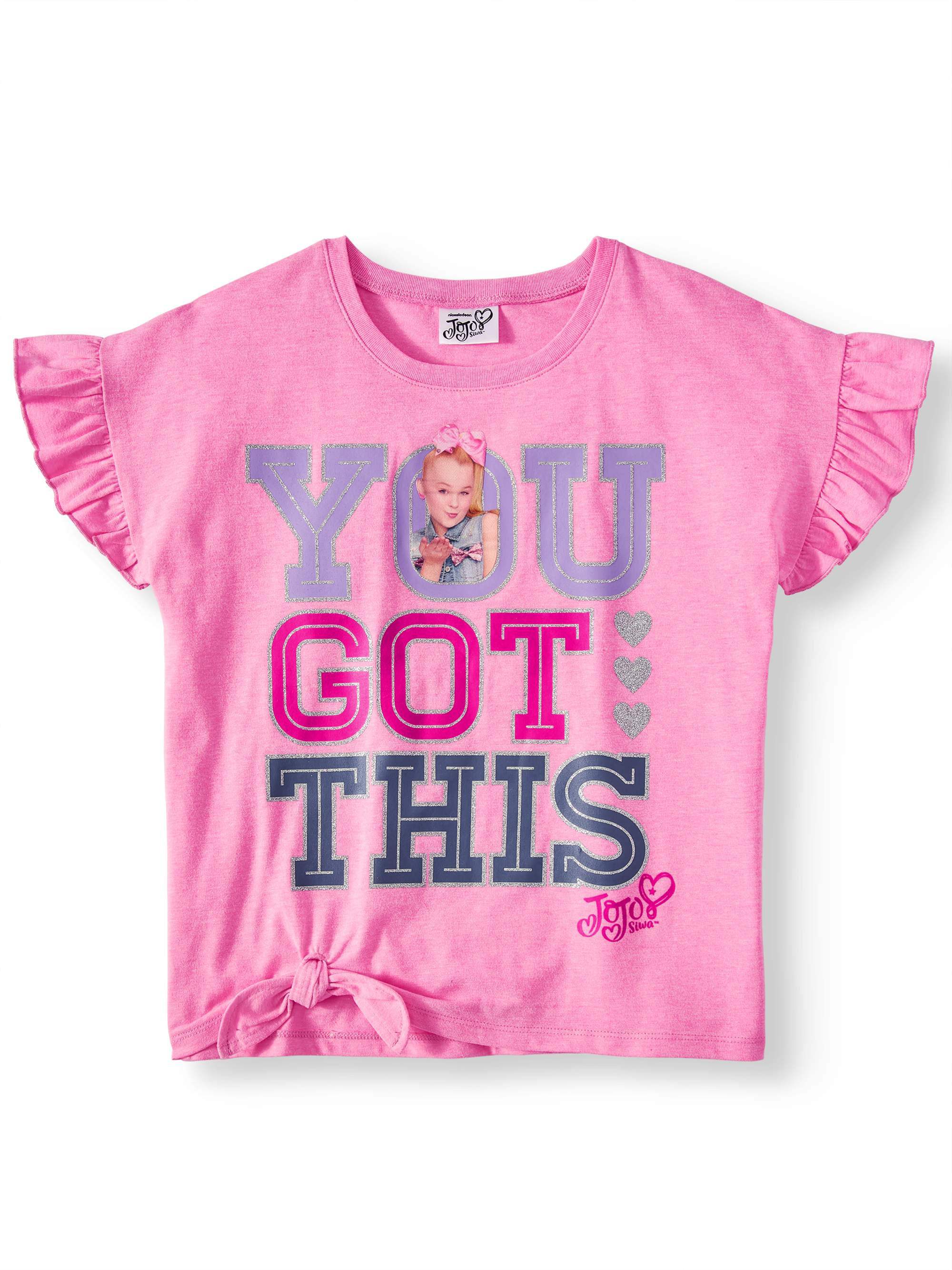 """You Got This"" Tie-Front T-Shirt (Little Girls & Big Girls)"