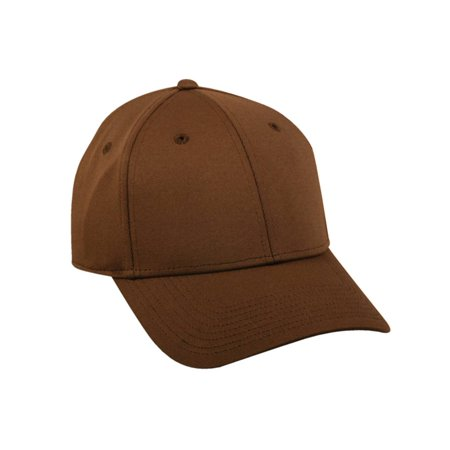 Flex Fitted Baseball Cap Hat - Brown](Brown Hat)