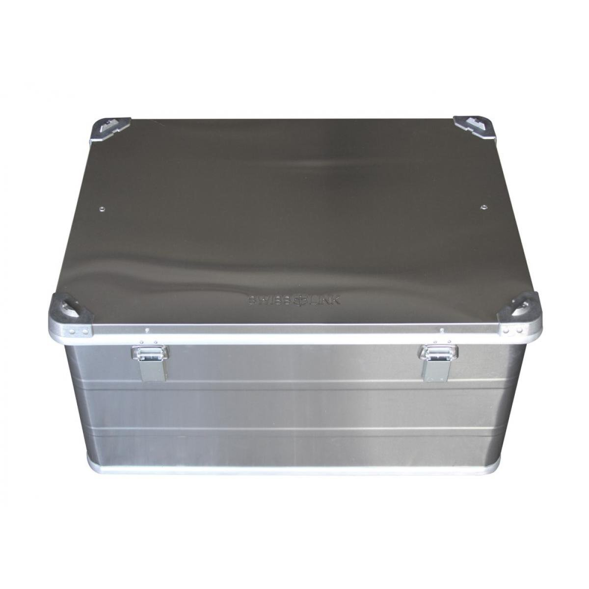 Swiss Link 4195 Large Aluminum Storage Case with Spring Loaded Rubber Grips