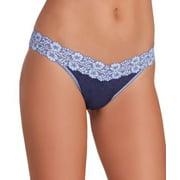 Hanky Panky Womens Heather Jersey Original Rise Thong Style-681801