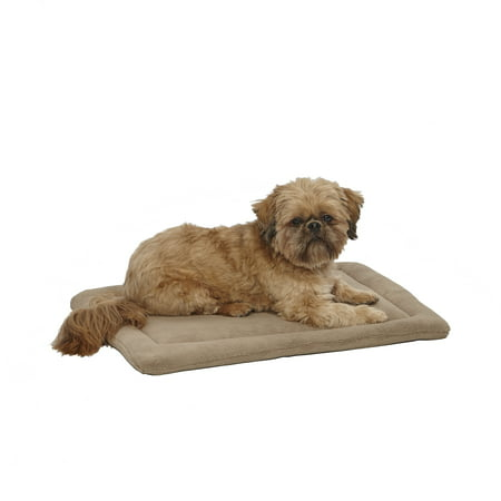 Quiet Time Taupe Micro Terry Pet Bed, 24u0022